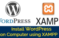 Install WordPress on Computer using XAMPP